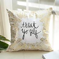 Vỏ gối tựa ghế sofa màu nhũ Treat yo self thumbnail
