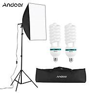 Andoer Professional Studio Photography Light Kit Including 50 70cm Softbox 1 150W 5500K Light Bulbs 2 2M Light thumbnail