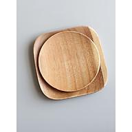 Khay, dĩa gỗ hình vuông, tròn. elip đẹp thumbnail
