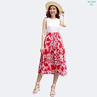 Chân Váy Xòe 42-60 kg MEEJENA Váy Xòe Nữ Vải Đũi Hoa - 3368 thumbnail