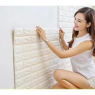 Combo 5 tấm xốp dán tường giả gạch màu trắng dày 5mm thumbnail