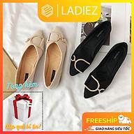 Giày Búp Bê Thời Trang Cao Cấp Ladiez Giày Sục Nữ Mũi Nhọn Tag Khóa Êm Chân Đế Bệt Xinh Xắn Siêu Đẹp thumbnail