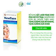 TPCN viên uống NEWFACE giúp bổ sung sắt,DHA,Vitamin và khoáng chất,cân bằng nội tiết tố...chai 60 viên thumbnail