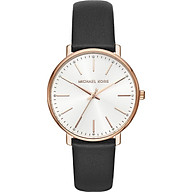 Michael Kors Women s Stainless Steel Quartz Watch with Leather Calfskin Strap thumbnail