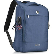 Balo laptop 15.6 inch Mikkor Lewie Backpack Navy thumbnail
