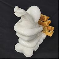 Tượng Phong Thuỷ Tuổi Tỵ - Rắn 12 Con Giáp Đá Trắng - 15cm - Mx - Hợp Mệnh Kim Thuỷ thumbnail