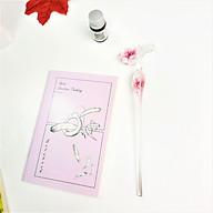 Bút Thủy Tinh Pha Lê Hoa Hồng Nhúng Mực Viết Nghệ Thuật Tặng Kèm Sổ Tay Mini - Màu Hồng thumbnail