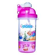 Bình nước cao cấp nắp bật có khay đựng kẹo Upass UP0826 (400ml) thumbnail