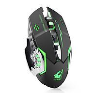 Chuột không dây game thủ tích hợp pin sạc và đèn LED, nút bấm chống ồn - Promax Free Wolf X8 (Màu giao ngẫu nhiên) - Hàng Chính Hãng thumbnail