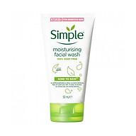 Sữa rửa mặt cho da khô Simple Moisturising Facial Wash 50ml dạng tuýp (Bill Anh) thumbnail