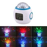 Sky Star Night Light Projector Lamp Kids Bedroom Music Alarm Clock White thumbnail
