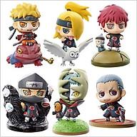 Bộ Combo 6 Mô Hình Naruto, Hidan, Zetsu, Deidara, Sasori, Kakuzu Chibi thumbnail