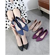 Giày Búp Bê Mũi Nhọn Nữ Nhựa Cao Cấp Nhẹ Êm Chân 3fashion - 3201 thumbnail