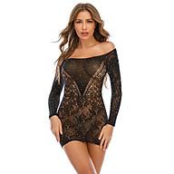 Explosive Nightclub Hot Rhinestone Long Sleeve Jacquard Bag Butt Dress Sexy Lingerie (Q60) thumbnail