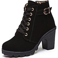 Giày Boot nữ thời trang khóa kéo B001D thumbnail