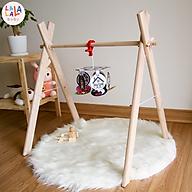 Kệ chữ A cho bé, Đồ chơi vận động cho trẻ sơ sinh Lalala Baby. Kích thích thị giác, kết hợp luyện vận động chân tay cho trẻ sơ sinh An toàn, Made in Việt Nam. Kích thước 70x53x45cm thumbnail