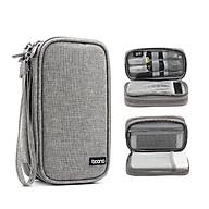 Túi hai ngăn đựng điện thoại và pin sạc dự phòng 20.000 mAh, cáp sạc, tai nghe Baona E001 - Hàng nhập khẩu thumbnail