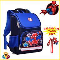 Balo cho bé trai in hình siêu nhân Người Nhện Batman dáng hộp màu xanh màu đỏ (Tặng móc khóa người nhện) E79 thumbnail