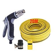 Bộ dây và vòi xịt tăng áp rửa xe tưới cây 206817 20M (cút nhựa nối đen 712-2) thumbnail