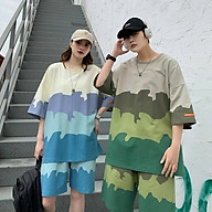 Đồ bộ mặc nhà dạo phố chất thun lạnh in 3D loang cá tính, dễ thương, ĐỒ BỘ MẶC NHÀ FORM RỘNG BỘ QUẦN ÁO NỮ ĐỒ BỘ NỮ THUN COTTON, thumbnail