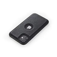 Ốp lưng da cao cấp dành cho iPhone 11 - Màu đen thumbnail