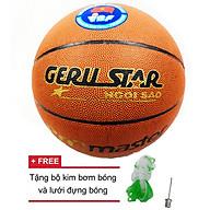 Quả bóng rổ số 7 Ge ru star tặng bộ kim bơm bóng và lưới đựng bóngng thumbnail