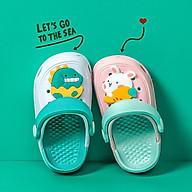 Dép Sục Cheerful Mario CC - 9999 Siêu Mềm Siêu Nhẹ Chống Trơn Trượt Cho Bé - 5 Màu Gắn Kèm Sticker, Có Quai Đeo (Kèm Tất Babylovego B101) thumbnail