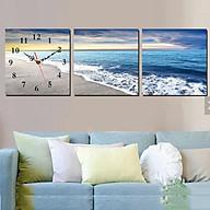 Tranh treo tường, tranh đồng hồ NT121 bộ 3 tấm ghép thumbnail
