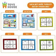 Sách tô màu bút nước thần kỳ ToysHouse cho trẻ em 3-4-5 tuổi, giúp trẻ em phát triển kỹ năng Montessori thumbnail