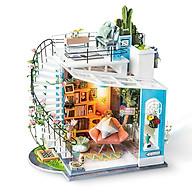 Nhà búp bê bằng gỗ lắp ghép Ngôi nhà của Dora Tặng kèm keo dán,dụng cụ lắp ghép, mica thumbnail