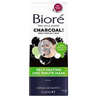 Biore Charcoal Self Heating One Minute Mask 4 Pack thumbnail