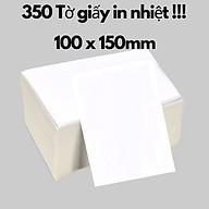Giấy in nhiệt 100 x 150mm hàng chính hãng cao cấp - giấy in đơn hàng TMĐT , tin hóa đơn , giấy dai có thể dán trực tiếp thumbnail