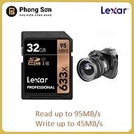 Thẻ nhớ SDHC 32GB Lexar Professional U1 633x 95MB s - Hàng Chính Hãng thumbnail