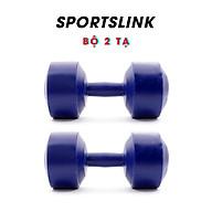 Bộ 2 Tạ Tập Tay Nhựa VN 2kg Sportslink - Xanh thumbnail