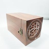 Hộp đựng trà gỗ hương chữ tàu nổi - hộp đựng trà gỗ hương thumbnail