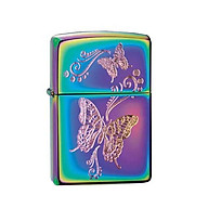 Bật Lửa Zippo Butterflies Spectrum Chrome Chính Hãng Usa thumbnail