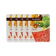 SET 5 gói mặt nạ giấy dưỡng ẩm trắng da Trái cây Avander 25G thumbnail