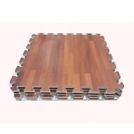 Combo 4 tấm thảm xốp ghép, in hình vân gỗ, kích thước 1 tấm 60cm x 60cm x1cm thumbnail