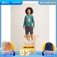 Áo thun tay dài họa tiết chữ mặt trước Mango MANGOL3 cho bé trai - 33053022 thumbnail