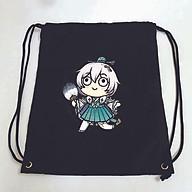 Balo dây rút đen in hình HONKAI IMPACT M1 game anime chibi túi rút đi học xinh xắn thời trang thumbnail