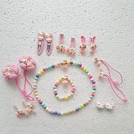 Hộp kẹp và dây buộc tóc nhiều món cho bé gái thumbnail