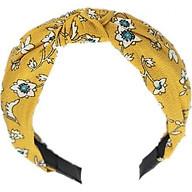 Bờm cài tóc turban nữ BN18 bản to hoa xanh vàng thumbnail