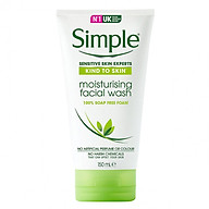 Sư a Rư a Mă t Dươ ng  m Simple Moisturising Facial Wash 150ml thumbnail