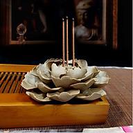 Thác khói trầm hương gốm cao cấp xuất Nhật (có thể đặt nụ trầm hoặc cắm nhang trầm) DDT11 thumbnail