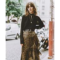 THE KOOPLES - Chân váy midi dáng quấn Leopard Print FJUP19026K-LEO01 thumbnail