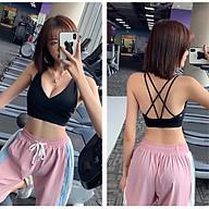 Áo Bra đắp chéo dây lưng tập thể thao Gym, yoga, mặc trong đi chơi rất đẹp A008 thumbnail