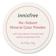 Phấn Phủ Kiềm Dầu Dạng Bột Khoáng Có Màu Innisfree No Sebum Mineral Color Powder 5G thumbnail