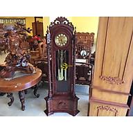 Đồng hồ hoa văn trụ chạm cẩm lai lớn DH312 thumbnail