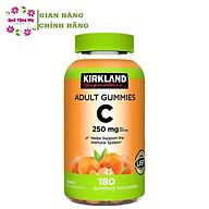 Kẹo Dẻo Vitamin C 250mg Kirkland Adult Gummies 180v Của Mỹ Hộp Giúp Tăng Cường Sức Đề Kháng và Miễn Dịch, Trắng Sàng và Chống Lão Hóa Da thumbnail