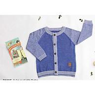 Áo len lông cừu cài giữa bé trai bé gái (3- 9 tháng) thumbnail